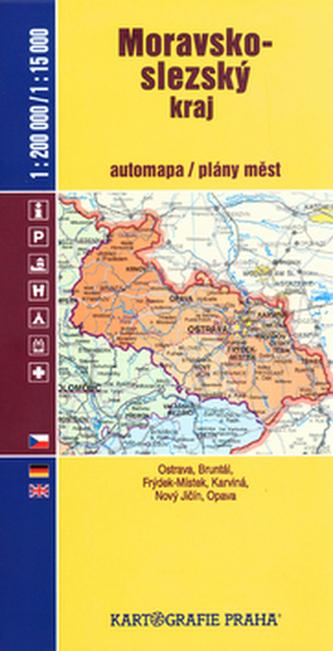 Moravsko-slezský kraj automapa/plány měst 1:200 000/1:15 000