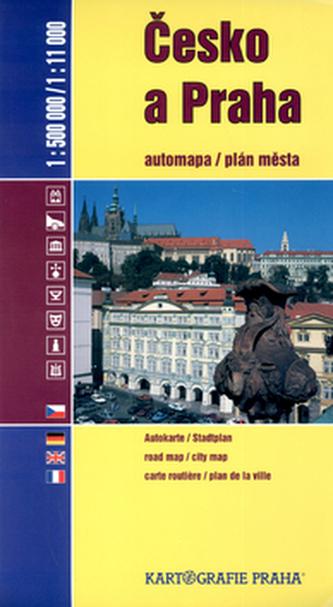 Česko a Praha 1:500 000 / 1:11 000