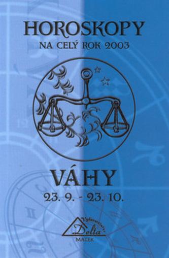 Horoskopy 2003 VÁHY