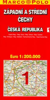 ČR 1 Západní a střední Čechy 1:200 000