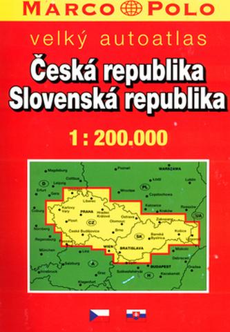 Česká republika, Slovenská republika 1:200 000