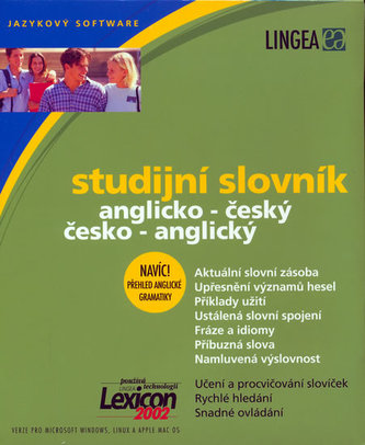 Studijní slovník ang.-čes. a čes.-ang. na CD ROM a kapesní slovník