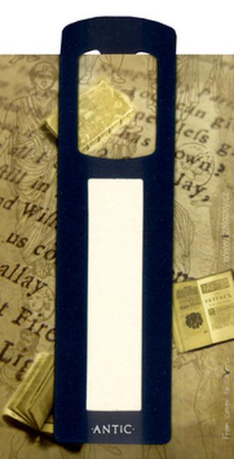 Antická záložka Mince tmavě modrá - AZ 001
