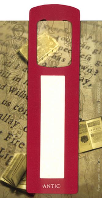Antická záložka Text tmavě červená - AZ 012