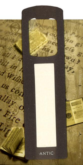 Antická záložka Text tmavě šedá - AZ 015