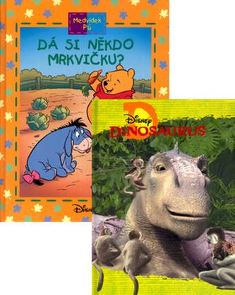 Balíček 2ks Dinosaurus + Medvídek Pú Dá si někdo mrkvičku