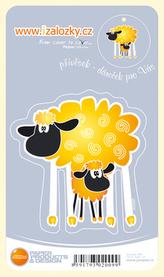 Průsvitná záložka Dvě ovečky - PZ 017