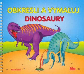 Obkresli a vymažuj Dinosaury