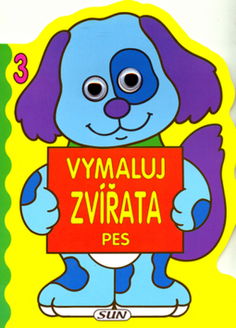 Vymaluj zvířata 3 Pes