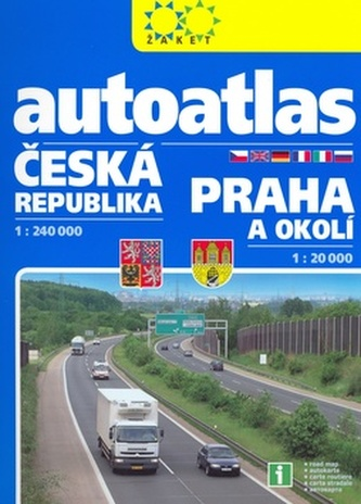 Autoatlas Česká republika 1:240 000 Praha 1:20 000