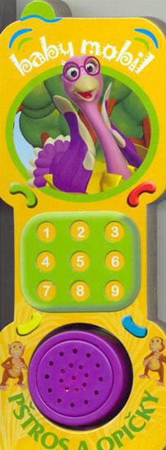 Baby mobil - pštros a opičky