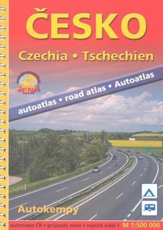 Autoatlas Česko 1:500 000 - kroužk.vazba