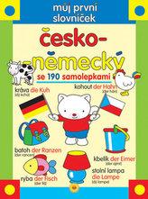 Můj první slovníček česko-německý se 190 samolepkami