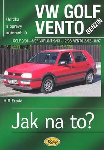 VW Golf benzin 9/91 - 8/97, Variant 9/93 - 12/98, Vento 2/92 - 8/97