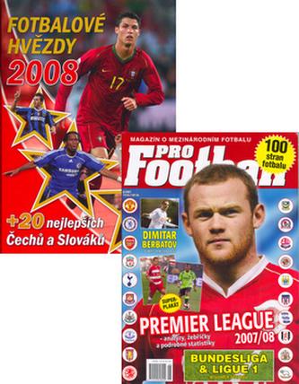Balíček 2ks Fotbalové hvězdy 2008 + časopis ProFootball