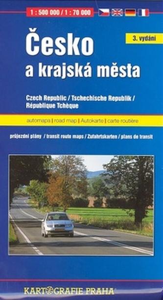 Česko a krajská města 1:500 000 / 1:15 000