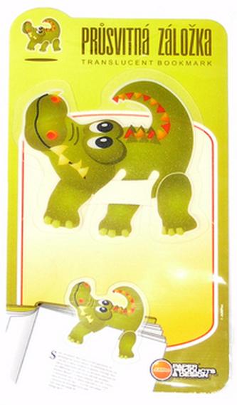 Průsvitná záložka Krokodýl - PZ 021