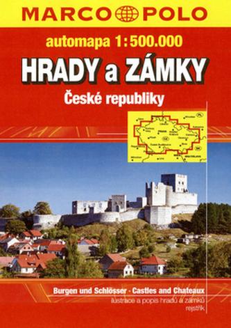 Hrady a zámky České republiky 1:500 000