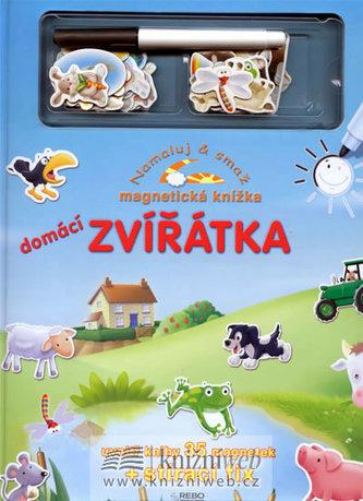 Domácí zvířátka - Namaluj a smaž - magnetická knížka