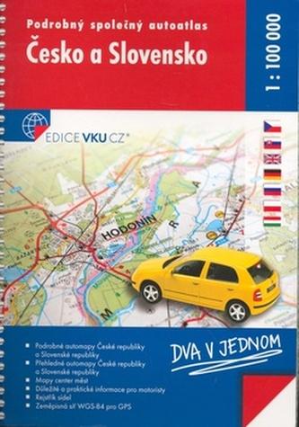 Podrobný společný autoatlas Česko a Slovensko