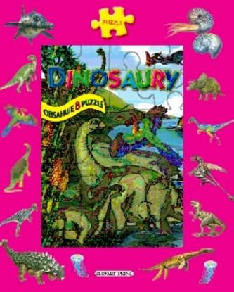 Dinosaury - leporelo s puzzlami