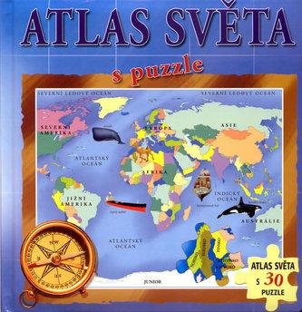 Atlas světa s puzzle