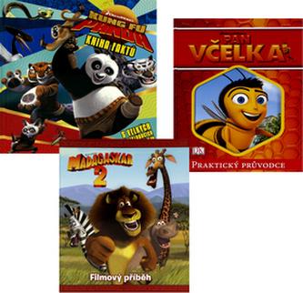 Balíček 3ks Pan Včelka + Madagaskar 2 + Kung Fu Panda