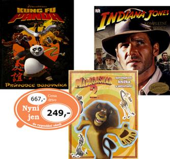 Balíček 3ks Madagaskar 2 + Indiana Jones + Kung Fu Panda