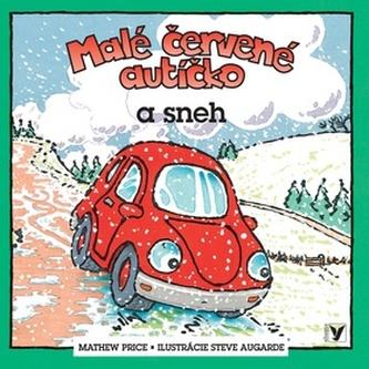 Malé červené autíčko a sneh