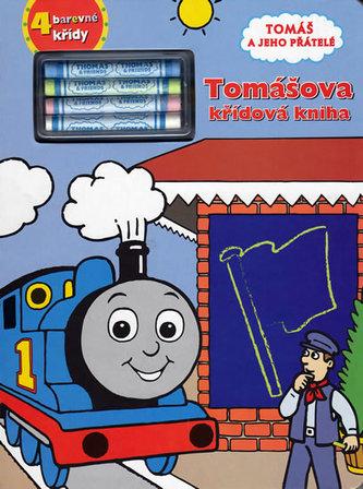 Tomáš a jeho přátelé Tomášova křídová kniha + 4 barevné křídy