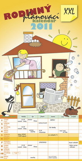 Rodinný plánovací XXL 2011 - nástěnný kalendář