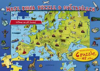 Moje kniha puzzle o světadílech