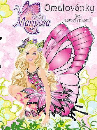 Barbie Mariposa Omalovánky se samolepkami