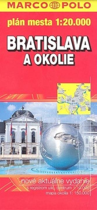 Bratislava  a okolie 1:20 000