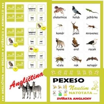 Pexeso Natotata Zvířata anglicky II