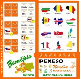 Pexeso Natotata Evropa - státy, vlajky, hlavní města