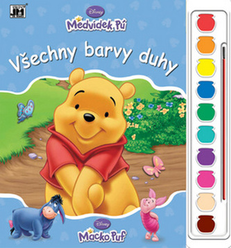Medvídek Pú Všechny barvy duhy omalovánka s vodovkami