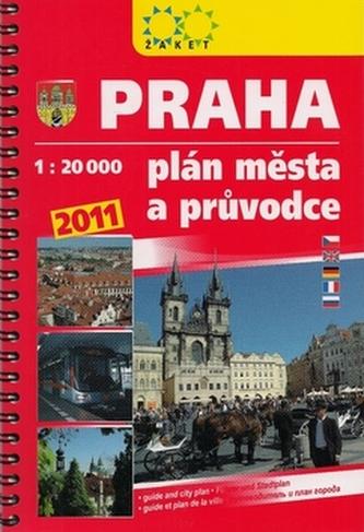 Praha plán města a průvodce 2011